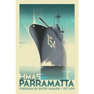 Mads Berg 'Parramatta' Retro Deco Danish Poster For Sale