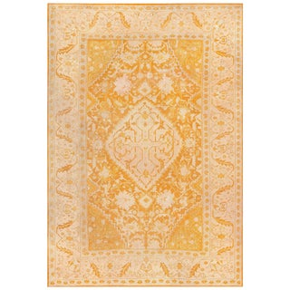 Antique Turkish Oushak Rug - 9′ × 12′ For Sale