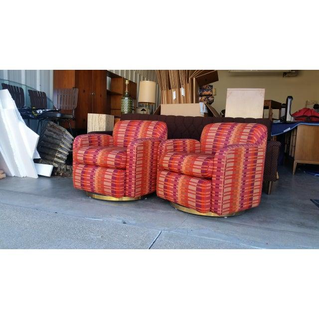 Mid-Century Milo Baughman for Thayer Coggin Swivel Chairs - Image 5 of 7