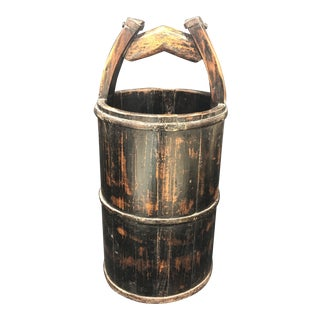 Chinese Wooden Bucket With Handle For Sale