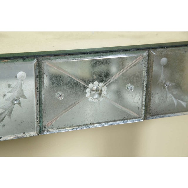Etched Glass Mirrored Consoles - A Pair - Image 8 of 9