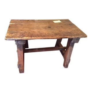 20th Century Rustic Pine Side Table For Sale