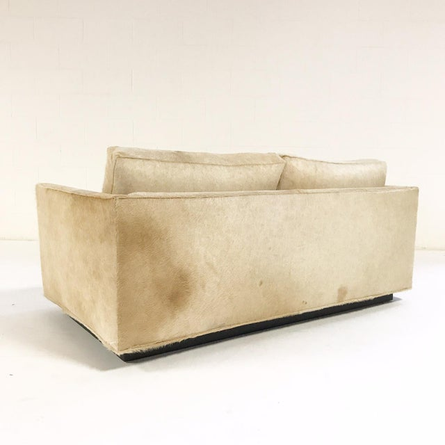 Forsyth One of a Kind Milo Baughman for Thayer Coggin Loveseat Sofa in Palomino Brazilian Cowhide For Sale In Saint Louis - Image 6 of 9