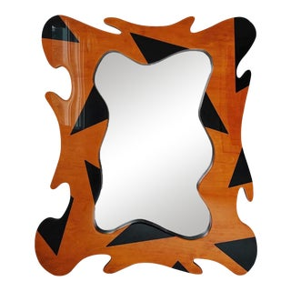 Vintage Art Deco Sculptural Wall Mirror For Sale