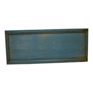 19th Century Painted Pine Queen Size Headboard Panel For Sale
