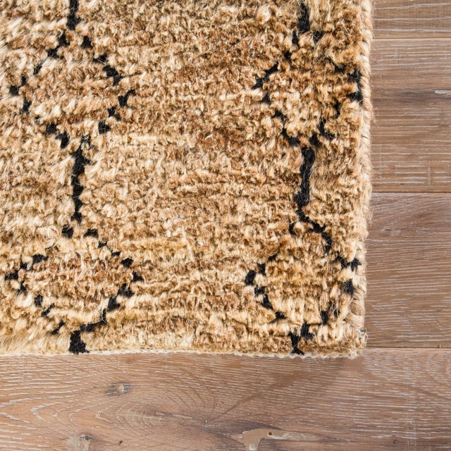 Contemporary Nikki Chu by Jaipur Living Lapins Natural Trellis Tan/ Black Area Rug - 2′ × 3′ For Sale - Image 3 of 6