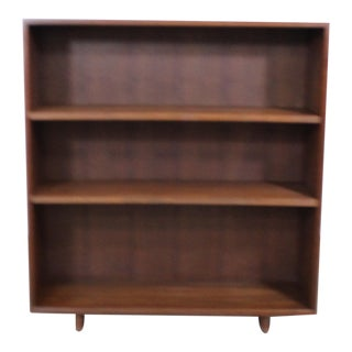 Mid Century Danish Modern Walnut Bookcase For Sale