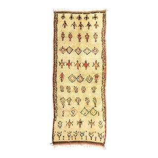Vintage Moroccan Azilal Runner - 4′8″ × 10′2″ For Sale