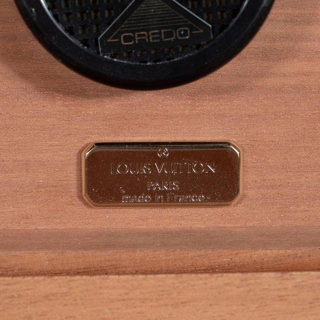 Gold Modernist Rosewood and Cedar Monogrammed Humidor by Louis Vuitton For Sale - Image 8 of 9