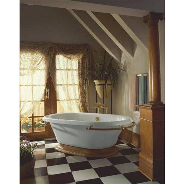 Kohler Vintage Cast Iron Freestanding Bathtub For Sale - Image 4 of 6
