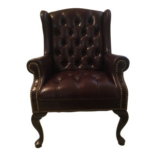 Burgundy Executive Tufted Office Chair For Sale