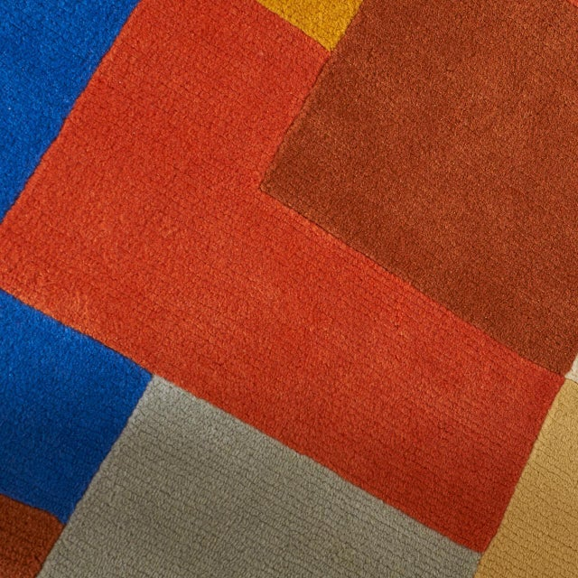 """Textile """"Labrinthe"""" Wool Rug by Sonia Delaunay For Sale - Image 7 of 10"""