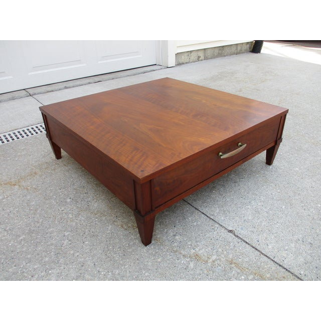Baker Furniture Company Baker Milling Road Walnut Low Side or Display Table For Sale - Image 4 of 12
