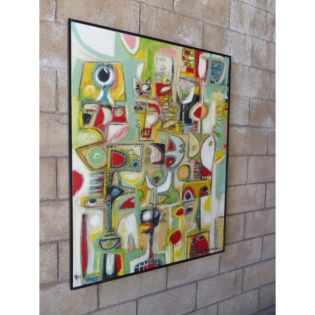 """Silence"", an original abstract oil painting on canvas by contemporary American artist Adam Henderson. Started in 2009 and..."