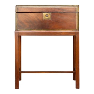 19th Century English Lap Desk in Mahogany For Sale
