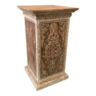 Large Scrubbed Ash Pedestal For Sale
