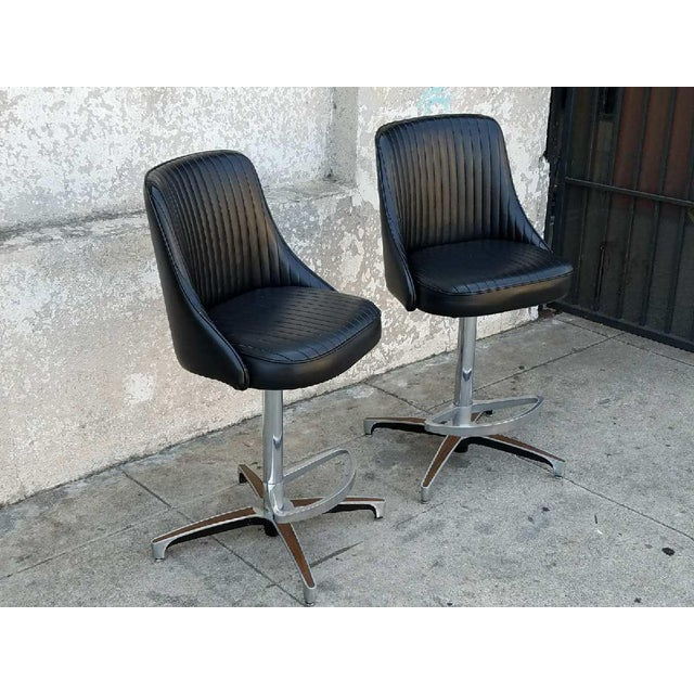 Vintage Counter Height Stools - A Pair - Image 3 of 3