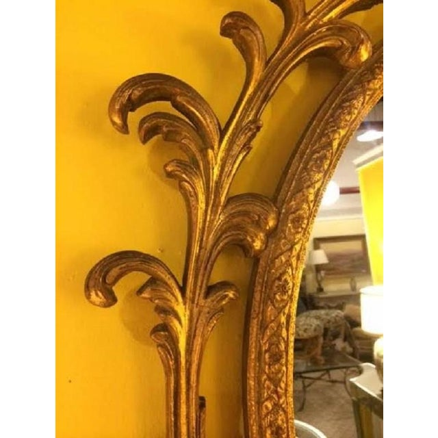 Baroque Pair of Carved Italian Gilt Decorated Wall Console Mirrors For Sale - Image 3 of 5