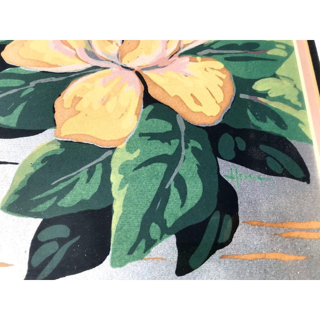 Art Deco 1940s Old Florida Flamingo Print by Hemia Calpini For Sale - Image 3 of 5