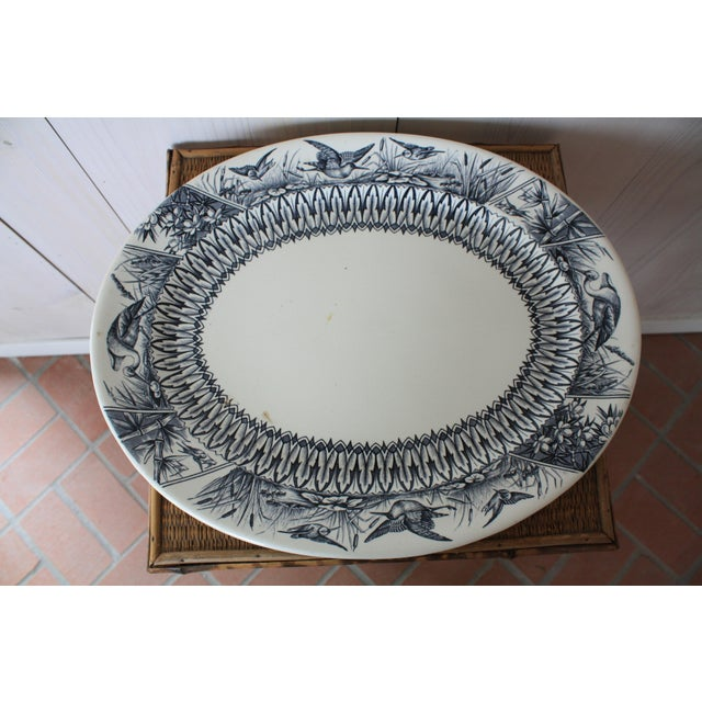 Late 19th Century Antique English Transferware Platter For Sale - Image 13 of 13