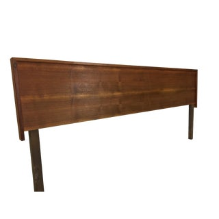 Kingsize Danish Modern Teak Headboard For Sale