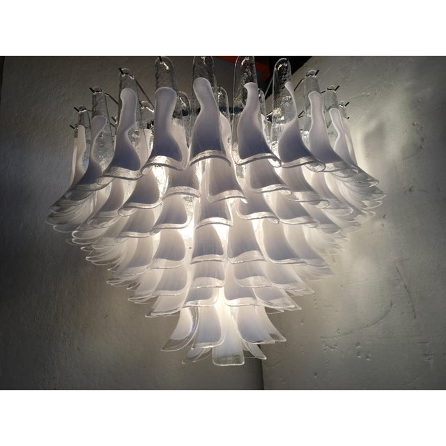 "Mid-Century Modern Mazzega Style Murano Glass ""Selle"" Sputnik Chandelier For Sale - Image 3 of 11"