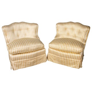 Pair of Slipper Chairs For Sale