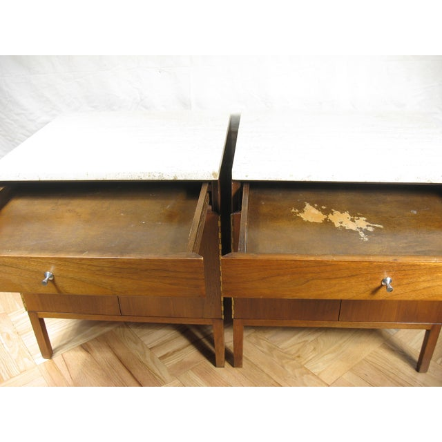Paul McCobb Calvin Side Tables - a Pair, Storage Cabinets For Sale - Image 10 of 12