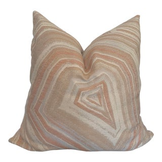 Blush Agate Marbleized Pillow Cover