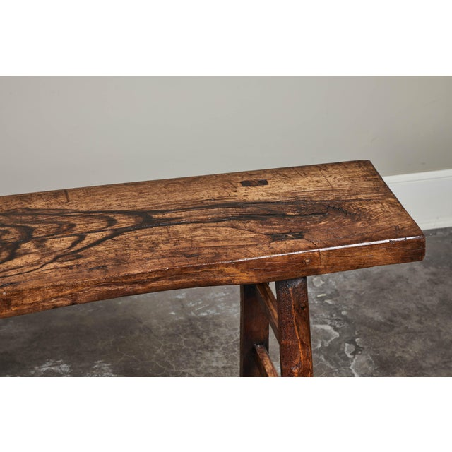 Wood 18th C. Chinese Poplar Elm Altar Table For Sale - Image 7 of 8