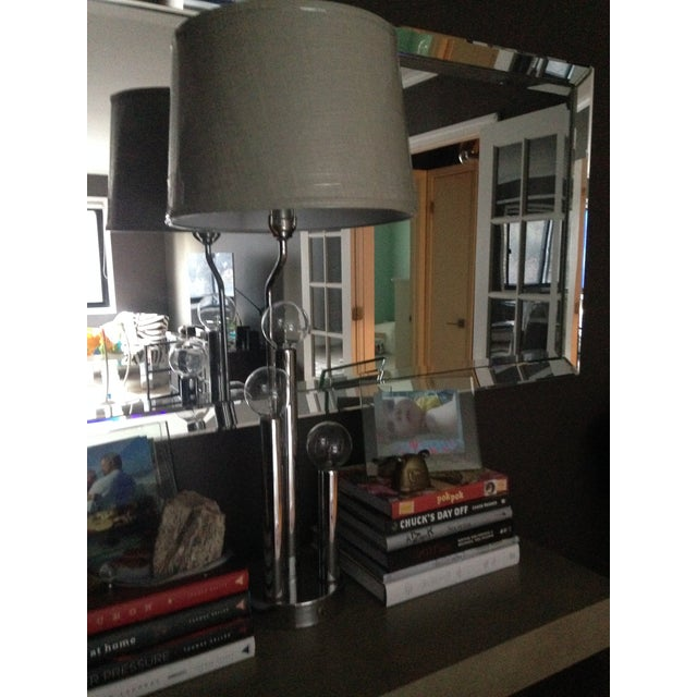 Vintage Mid-Century Modern Chrome Table Lamp - Image 2 of 5