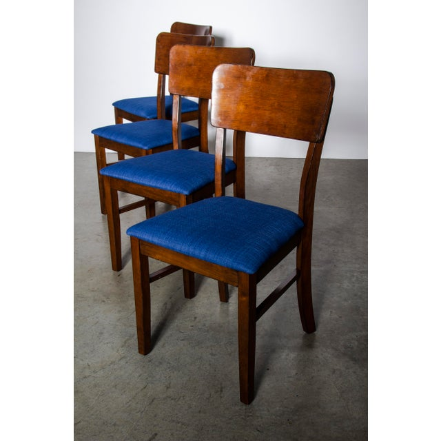Wood Contemporary Wood Dining Table and Chairs Set For Sale - Image 7 of 10