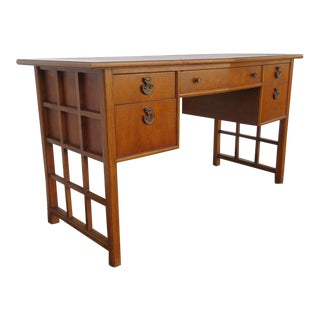 Hollywood Regency Leather Top Desk by Thomasville 1224 For Sale