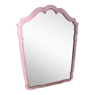 John Widdicomb Painted Pink Mirror For Sale