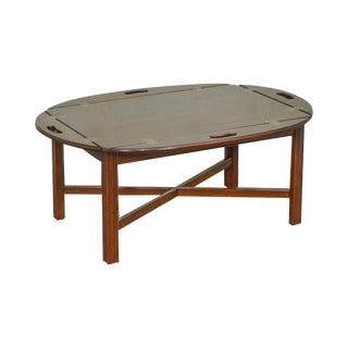 Ethan Allen Chippendale Style Georgian Court Cherry Butlers Coffee Table