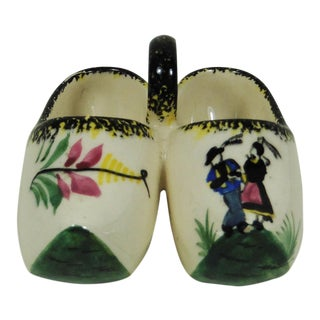 French Quimper Clogs Saltcellar For Sale
