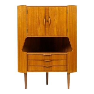 1960s Vintage Danish Modern Gunni Omann Bar Cabinet For Sale