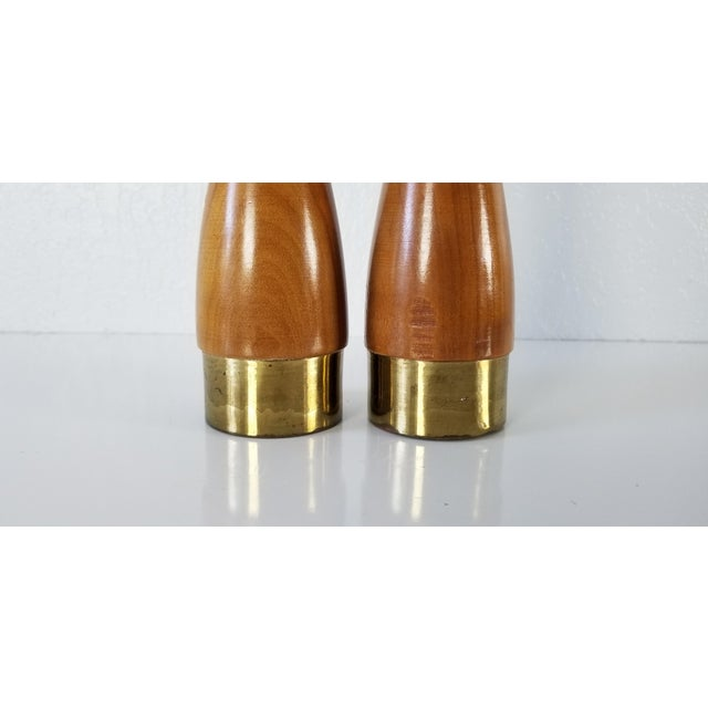 Italian Mid-Century Danish Salt and Pepper Shakers a Pair For Sale In Miami - Image 6 of 8