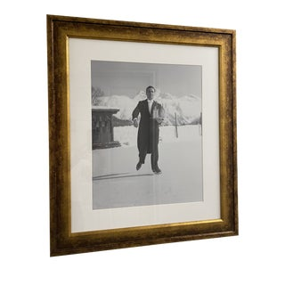 Vintage Photograph Ice Skating Waiter, 1938 For Sale