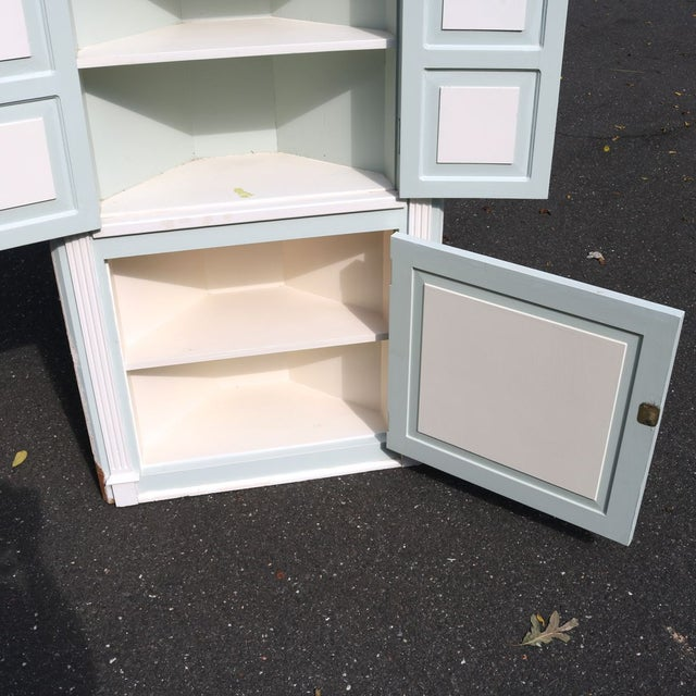 Custom Arch Panel Corner Cabinets - A Pair - Image 10 of 11