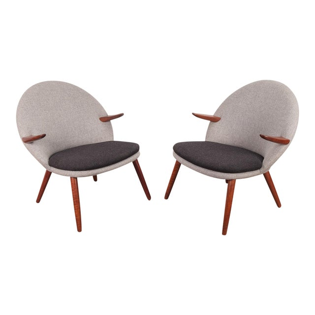Kurt Olsen Easy Chairs - a Pair For Sale