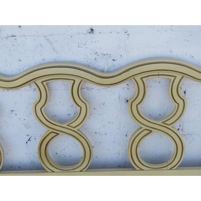 French King Size Painted Headboard For Sale In Miami - Image 6 of 11