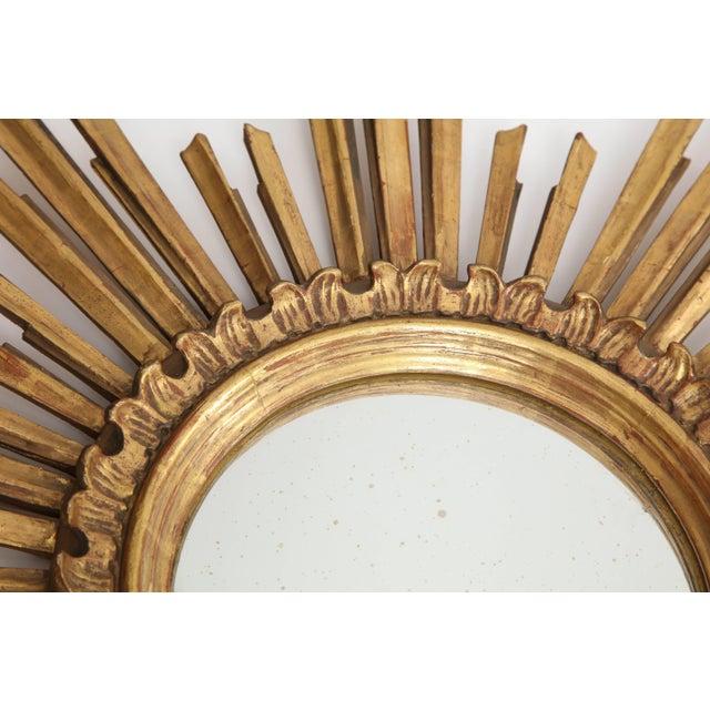 Wood Giltwood Sunburst Mirror For Sale - Image 7 of 9