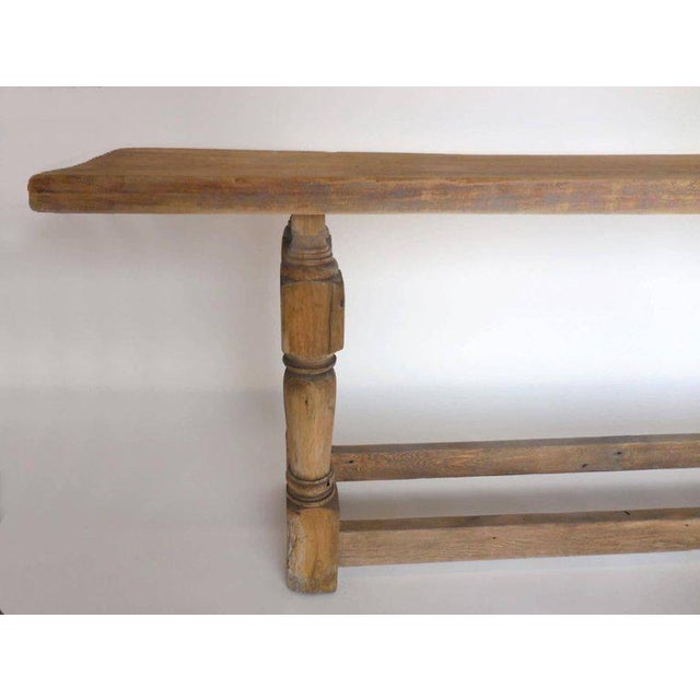 Wood Large Scale, but Narrow Console For Sale - Image 7 of 10