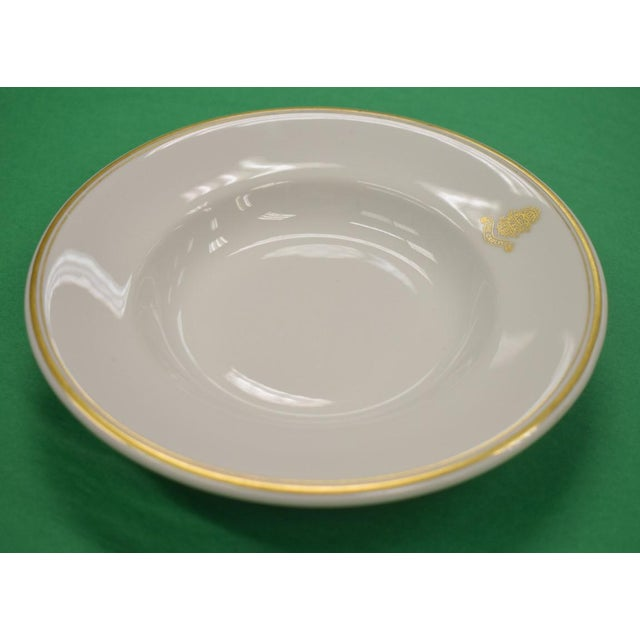 Traditional 1950s Vintage Shenango Carlyle Hotel Gilt Soup Bowl For Sale - Image 3 of 6