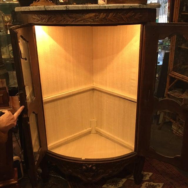 Antique 1750s Corner Cabinet with Original Marble - Image 7 of 8
