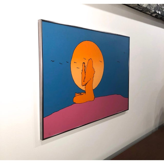 """Peter Max Rare original serigraph titled """"Samiji"""" Hand signed and numbered 26, edition of 100 1971 Professionally framed w..."""