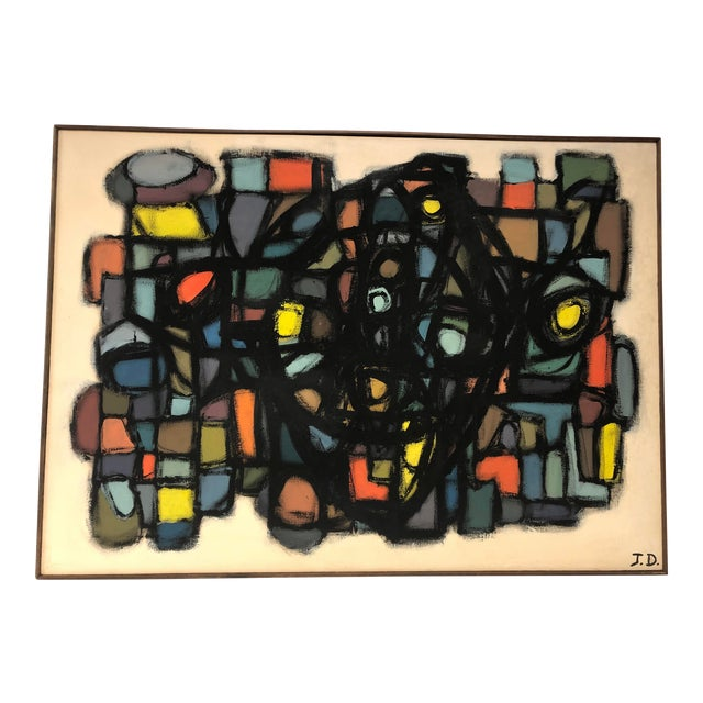 1960's Abstract Oil Painting by J. S. DeYoe For Sale