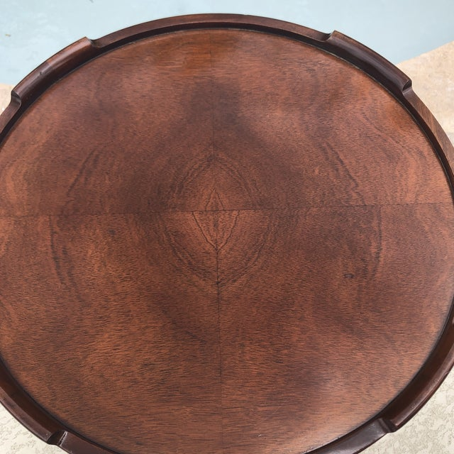 1950s Arts and Crafts Baker Furniture Round Chippendale Style Side Table For Sale In Austin - Image 6 of 13