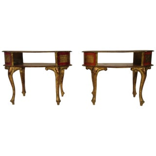 1960s Florentine Italian End Tables For Sale